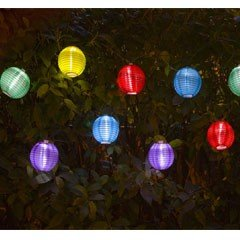 Greenfingers Lantern String Solar Lights - Set of 10