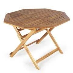 Ellister Alnwick FSC Acacia Octagonal Folding Table - 110cm