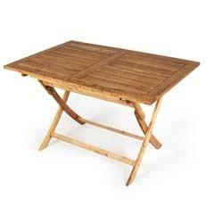 Greenfingers Alnwick FSC Acacia Rectangular Folding Table - 120cm