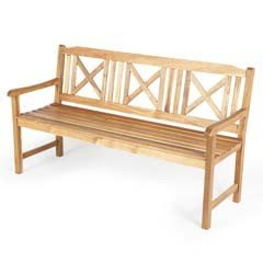 Ellister Alnwick Cross FSC Acacia 158cm Bench