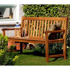 Ellister Alnwick FSC Acacia 3 Seater Bench