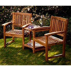 Great Greenfingers Alnwick FSC Acacia Love Seat