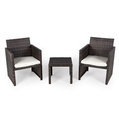 Greenfingers Moncafa 2 Seater Bistro Set - Black/Brown