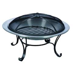 Greenfingers Stainless Steel Fire Pit - Large