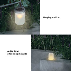 Greenfingers Solar Candle Lamp Set of 3