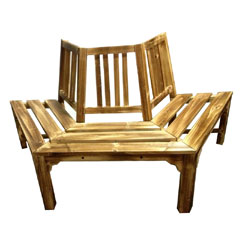 Greenfingers Wooden Half Tree Seat