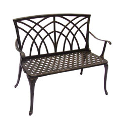 Ellister Stamford 2 Seater Bench - 89cm Bronze