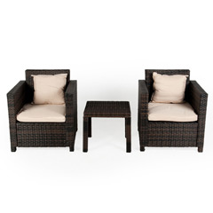 Ellister Rattan 2 Seater Square Patio Set
