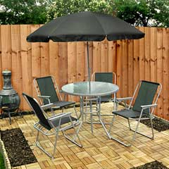 Kingfisher 4 Seater Patio Set with Parasol