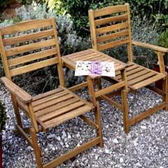 Rondeau Leisure Kent Acacia 158cm Companion Seat