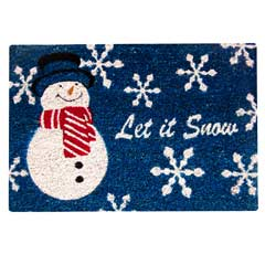 Gardman Festive PVC Backed Coir Door Mat - Let it Snow