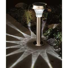Gardman Stainless Steel Solar Post Light