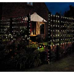 Gardman Solar 250 LED String Lights