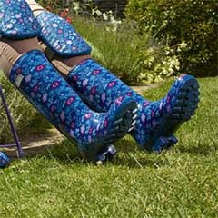 Briers Fresh Floral Patterned PVC Wellie Boot