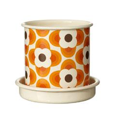 Orla Kiely Small Orange Plant Pot