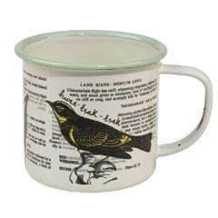 Thoughtful Gardener Bird Enamel Mug