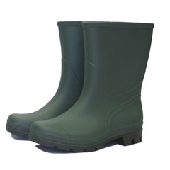 Town & Country Essentials Half Length Wellington Boot - Green