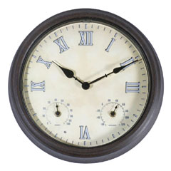 Town and Country Weathereye LED Outdoor Clock - 36cm