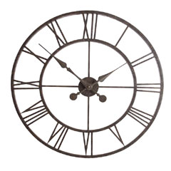 Town and Country Outdoor Roman Clock 30in