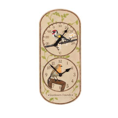 Garden Nation Rochford Clock & Thermometer