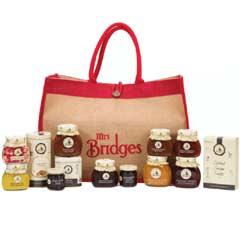Mrs Bridges Luxury Christmas Hamper Selection in Jute Bag