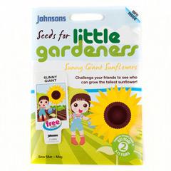 Johnsons Little Gardeners Flowers - Sunny Giant Sunflowers