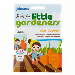 Johnsons Little Gardeners Vegetables - Mini Basketball Carrots