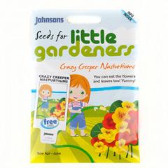 Johnsons Little Gardeners Flowers - Crazy Creeper Nasturtiums