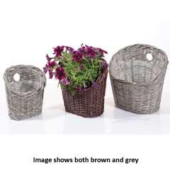 Triflora Woven Wall Hanger Basket - Set of 3