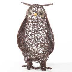 Triflora Woven Outdoor Owl - 40 Warm White LEDs