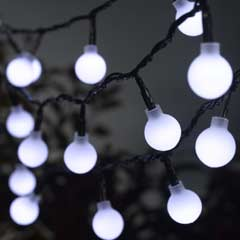 Ball String Lights - 50 White LED