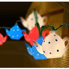 Teapot String Lights - 10 White LED