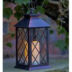 Lattice Lantern Candle LED