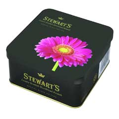 Stewarts Luxury Black Edition Shortbread 125g - Pink Gerbera