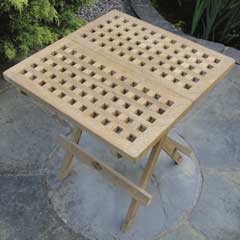 Rondeau Leisure Teak Chess Style Folding Table