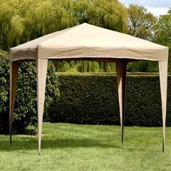Garden Nation Easy Up Gazebo - Mocha 2.5 x 2.5M