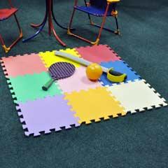 Garden Games - 9 Piece Multi Coloured Play Mat Set.