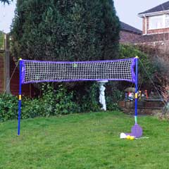 Garden Games - 2-in-1 Badminton & Tennis Garden Game Set