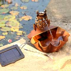 Ting Tang Frog Solar Water Fountain Feature