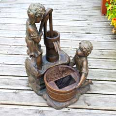 Smart Garden Boy & Girl Solar Water Pump Fountain