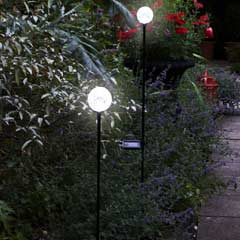 Smart Garden Crackle Glass Solar Stake Lights - Set of 2