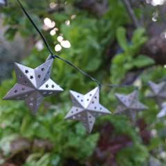 Smart Garden Metal Stars Solar String Lights - 16 Stars