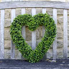 Smart Garden Boxwood Hanging Heart 38 x 41cm