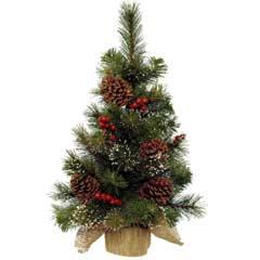Christmas Mini Tree Berries & Pinecones - 75cm