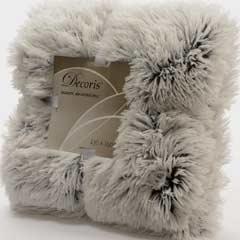 Christmas Grey Faux Fur Throw 150 x 130cm