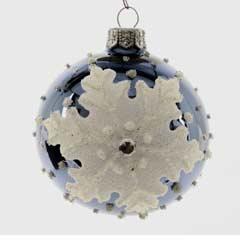 Christmas Baubles Jean Blue Snowflake - Set of 6