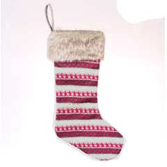 Christmas Patterned Stocking 55cm