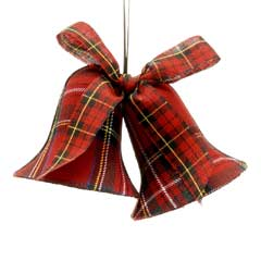 Christmas Baubles Twin Tartan Liberty Bell