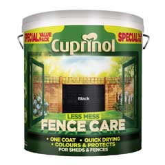 Cuprinol Less Mess Fence Care 6 Litre - Black