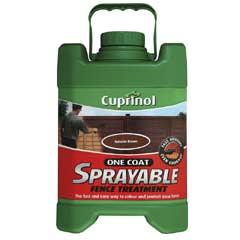 Cuprinol One Coat Sprayable Fence Treatment 5 Litre - Autumn Brown